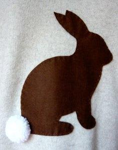 Customised jumper - detail