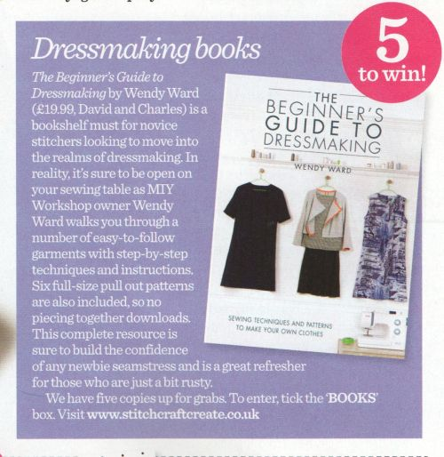win the beginners guide to dressmaking