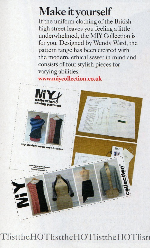 MIY Collection - sewing patterns for jersey fabric