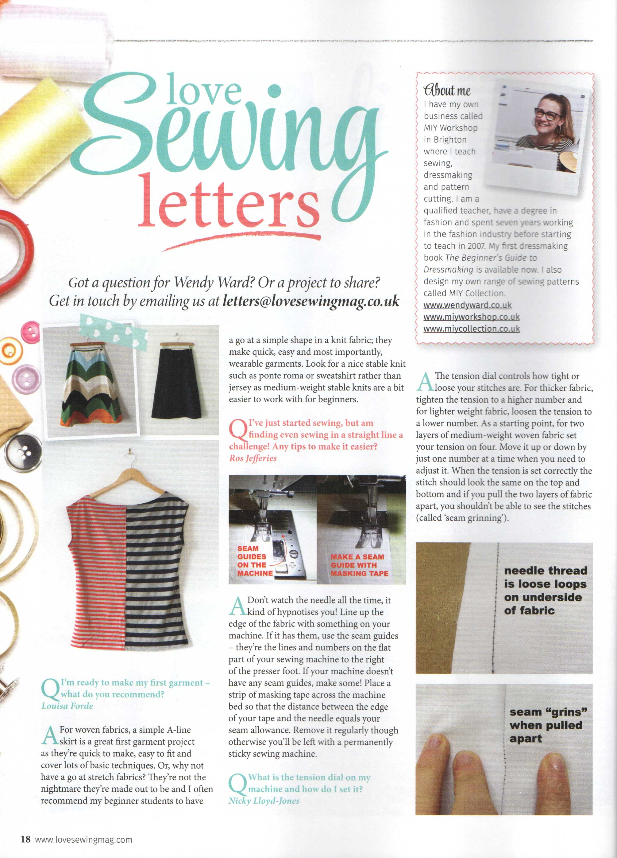 5894428552 February's Dressmaking Q&A for Love Sewing Magazine | Wendy Ward