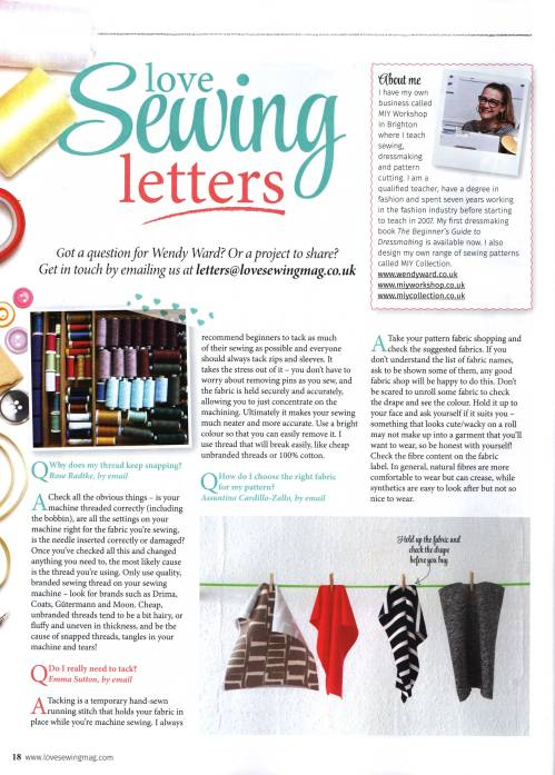 Q&A Love Sewing Magazine
