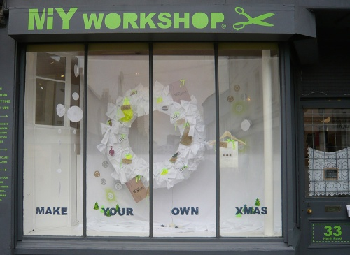 MIY Workshop Christmas Window