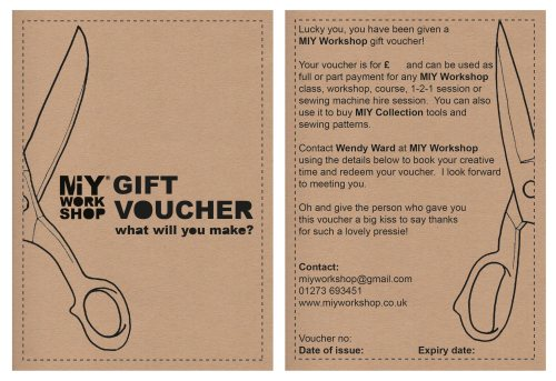 sewing gift voucher brighton