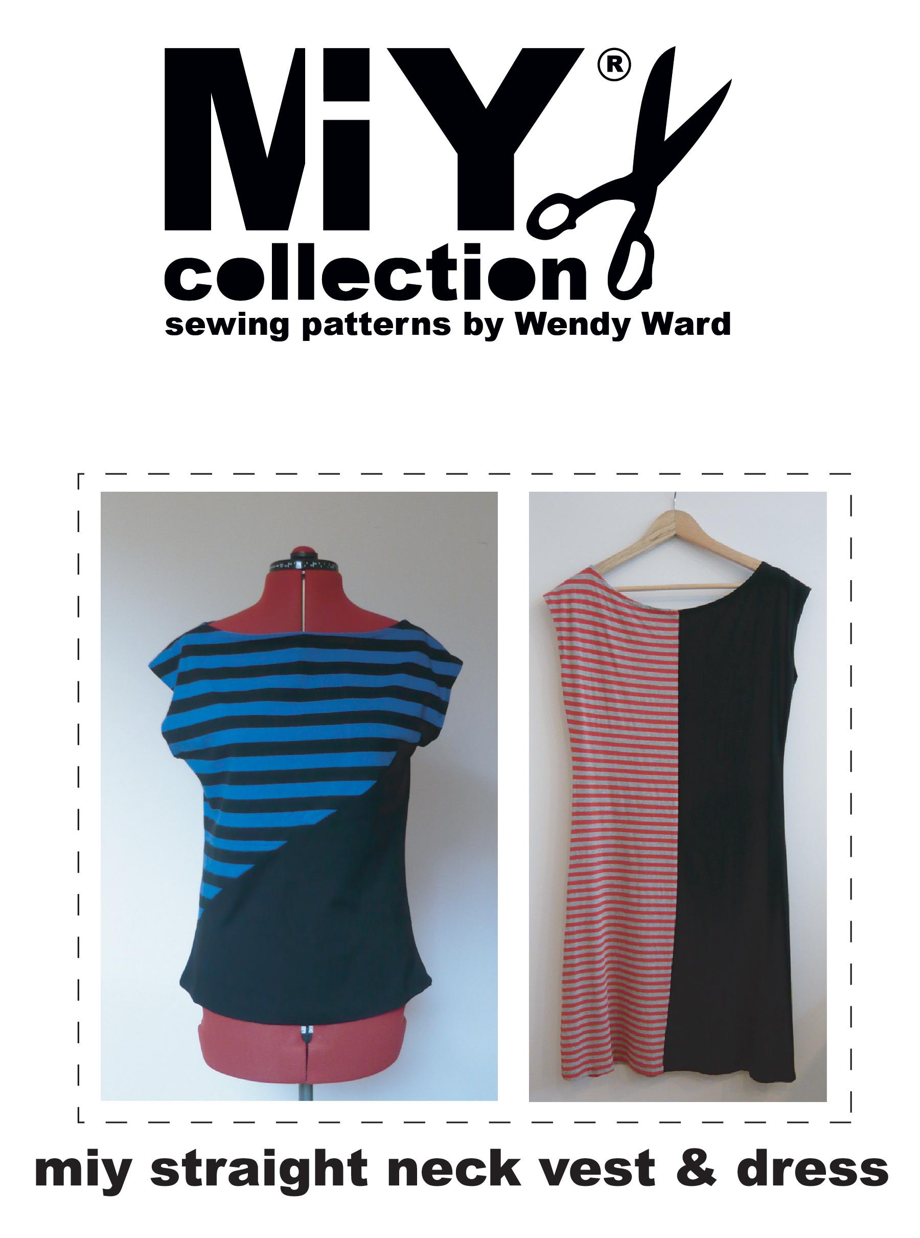 easy t-shirt vest dress sewing pattern