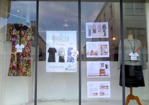 beginners guide to dressmaking window