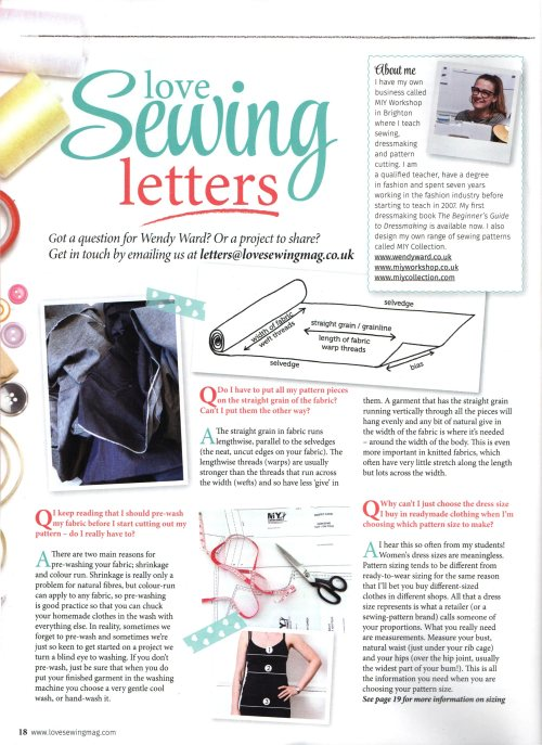 Love Sewing Q&A March15