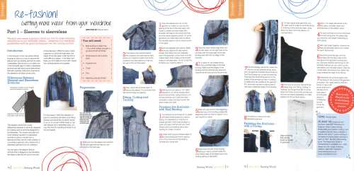 sewing world magazine - how to remove sleeves