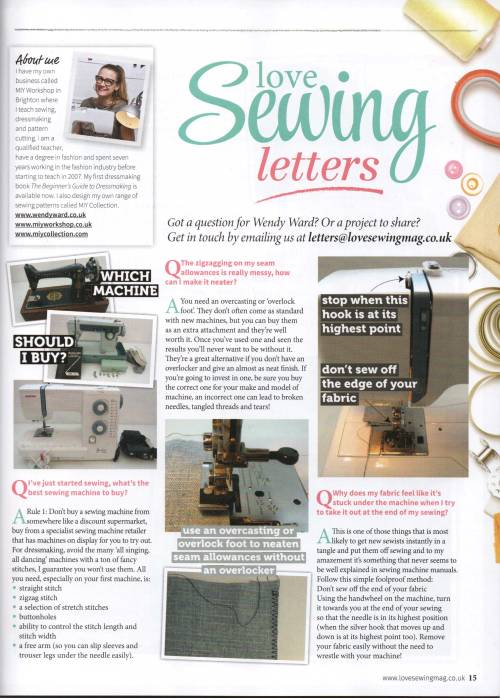 Love Sewing April dressmaking q&a dressmaking sos
