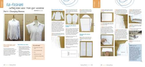 refashioning shirt sleeves