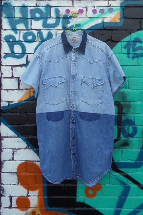 the refashioners denim shirts