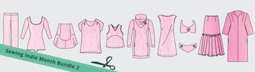 sewing indie month pattern bundle