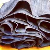 Hemming: cotton denim