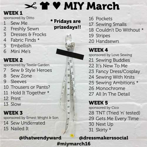 MIY March topic list