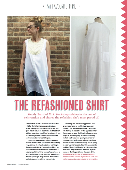 refashioned shirt - simply sewing
