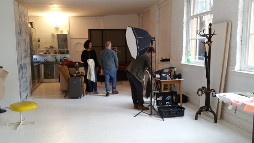 sewing book photoshoot