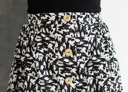 button up skirt brighton skirt
