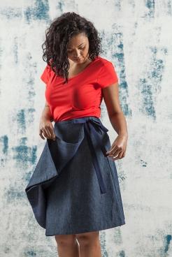 granville wrap skirt