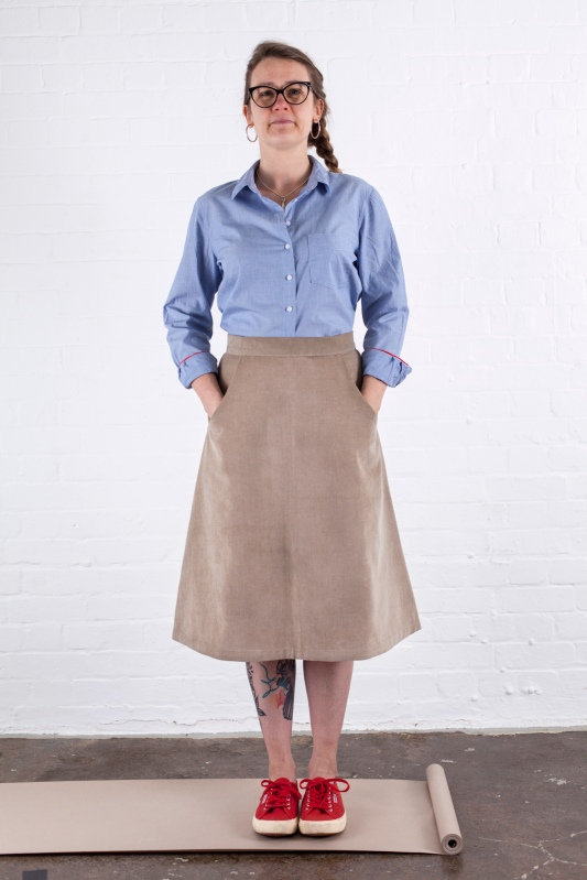 how to line an a-line skirt