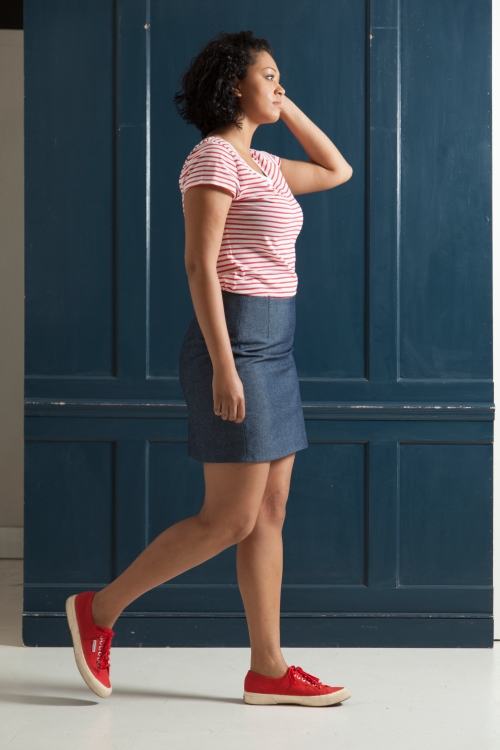 how to line a pencil skirt