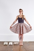 how to line a circle skirt