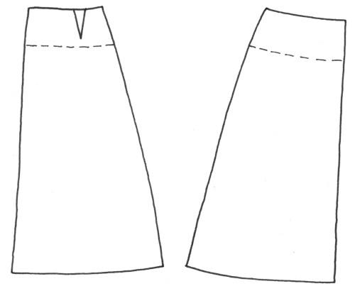 how to line a skirt with a waist facing