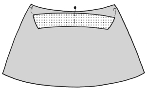 how to add a lining to a waist facing