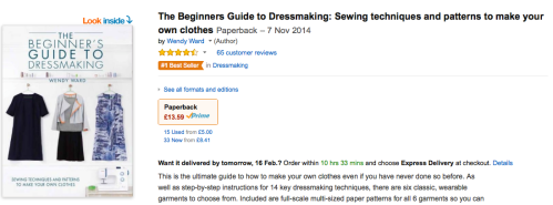 beginners dressmaking book