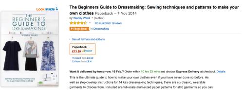 beginners dressmaking book