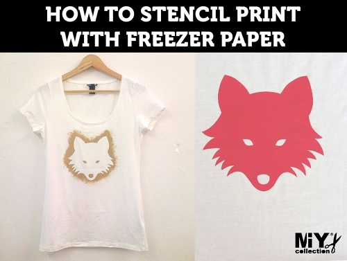 printing with freezer paper