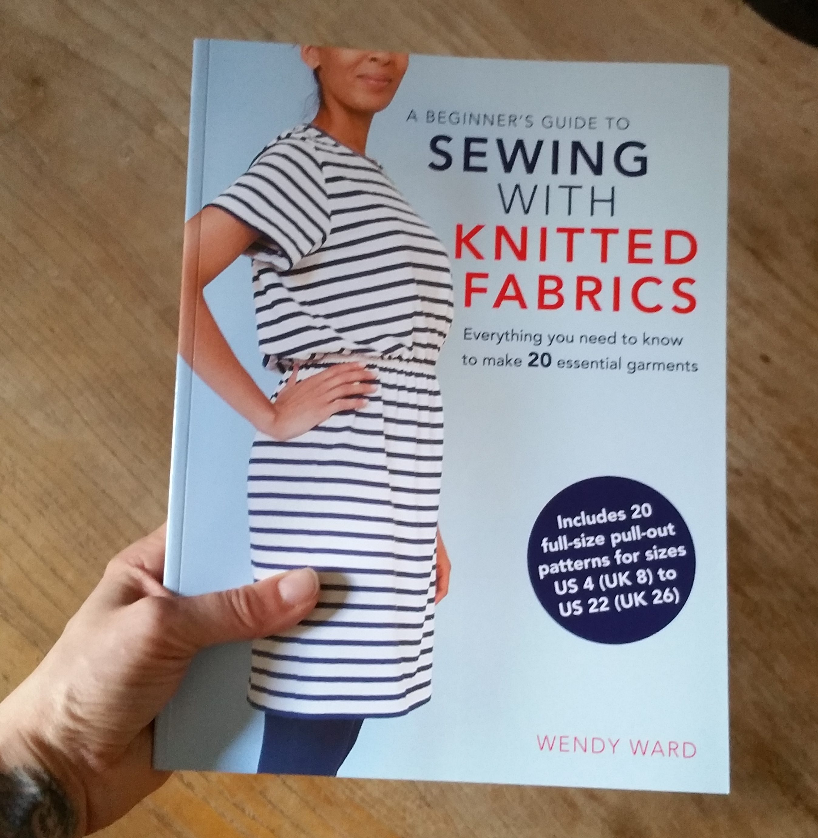 How To Make A Knitted Book Cover ~ First copy of beginner s guide to sewing with knitted fabrics