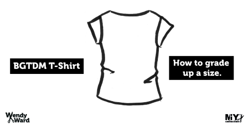 grading up a size t-shirt