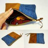 how to make a zipped pouch