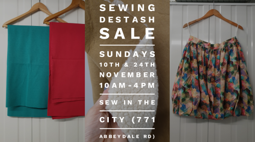 sewing destash sale sheffield