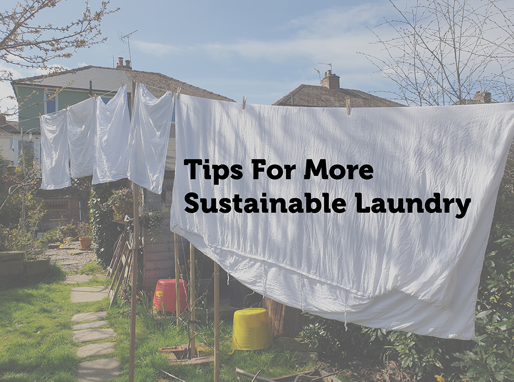 tips for more sustainable laundry